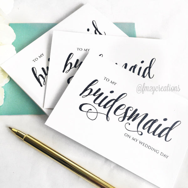 THANK YOU WEDDING CARD | BRIDESMAIDS