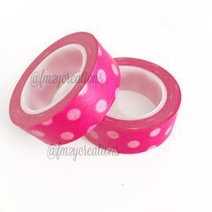 WASHI TAPE: POLKA DOT PINK - From Me 2 You Creations