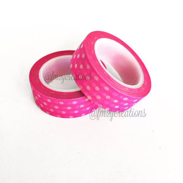 WASHI TAPE: POLKA DOT PINK