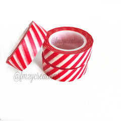 WASHI TAPE: STRIPE Red