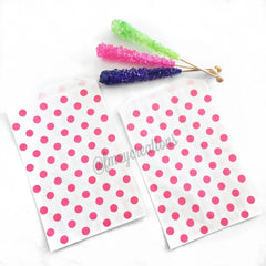 POLKA DOT PAPER STRAWS: Pink - From Me 2 You Creations