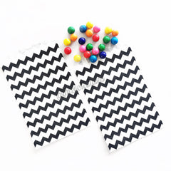 CHEVRON PAPER STRAWS: Black - From Me 2 You Creations