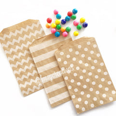 STRIPE PAPER STRAWS: Brown - From Me 2 You Creations