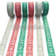 WASHI TAPE: CHRISTMAS MERRY GRAY - From Me 2 You Creations