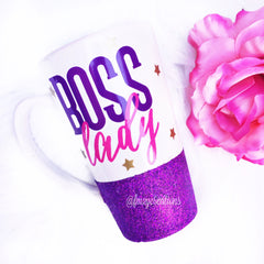 Latte Mug: Boss Lady - From Me 2 You Creations