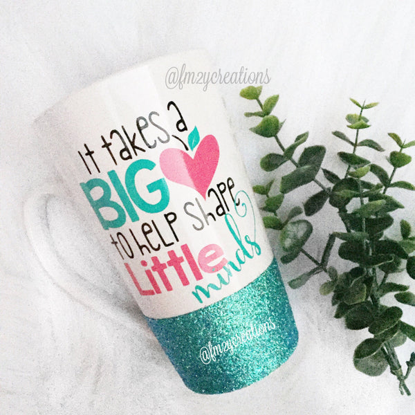 Latte Mug: Big Heart Teacher