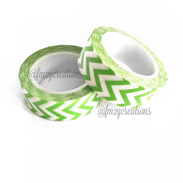 WASHI TAPE: CHEVRON Lime Green