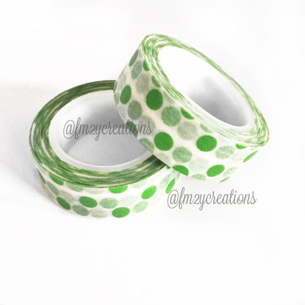 WASHI TAPE: POLKA DOT Lime Green
