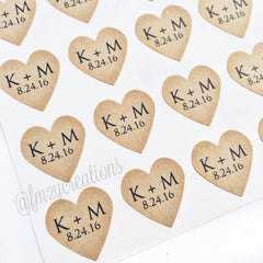 STICKERS: HEART | PERSONALIZED - From Me 2 You Creations