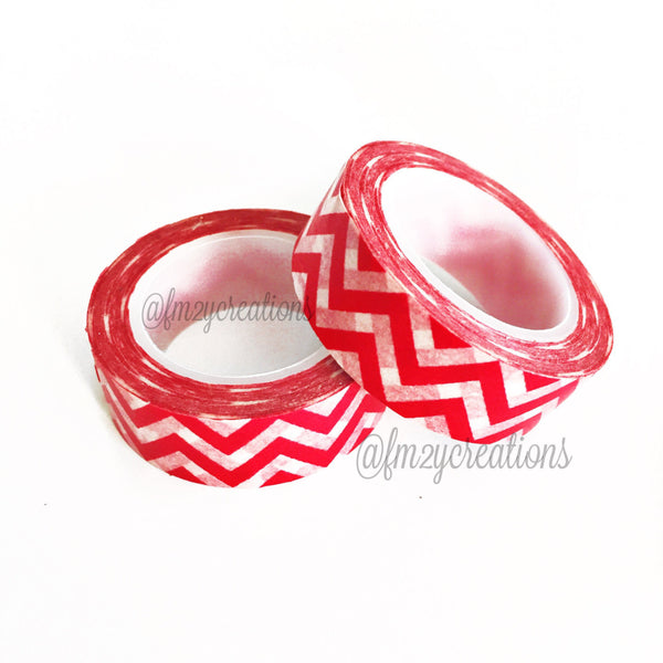 WASHI TAPE: CHEVRON Red