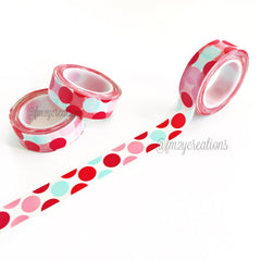 WASHI TAPE: POLKA DOT Pink|Aqua