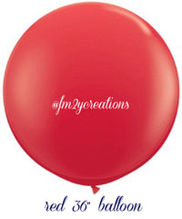 "36"" Red Round Latex Balloon - From Me 2 You Creations"