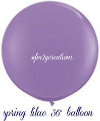"36"" Spring Lilac Round Latex Balloons - From Me 2 You Creations"