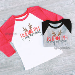 HOLIDAY APPAREL | Rudolph is My Homeboy RAGLAN - From Me 2 You Creations