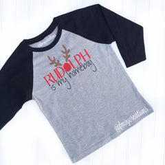 HOLIDAY APPAREL | Rudolph is My Homeboy -- YOUTH - From Me 2 You Creations