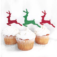 CUPCAKE TOPPERS: REINDEER - From Me 2 You Creations