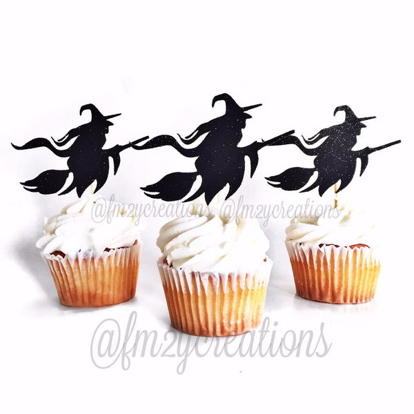 Cupcake Toppers: Halloween Witch