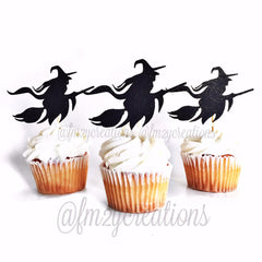 Cupcake Toppers: Halloween Witch - From Me 2 You Creations