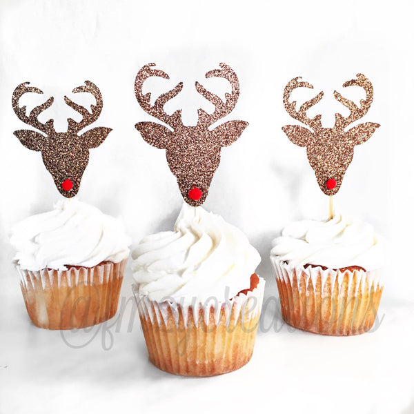 CUPCAKE TOPPERS: Rudolph the Red Nose Reindeer