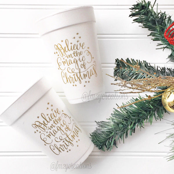 PARTY CUPS FOAM: CHRISTMAS MAGIC
