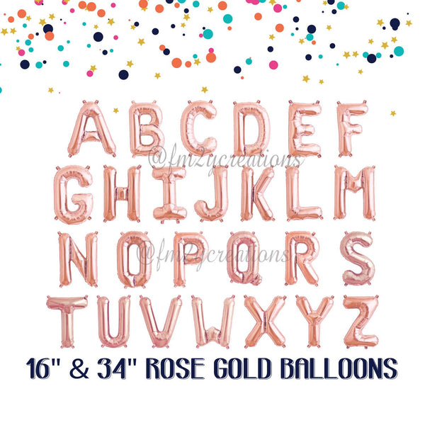 "Rose Gold Mylar 40"" Letter Balloon 
