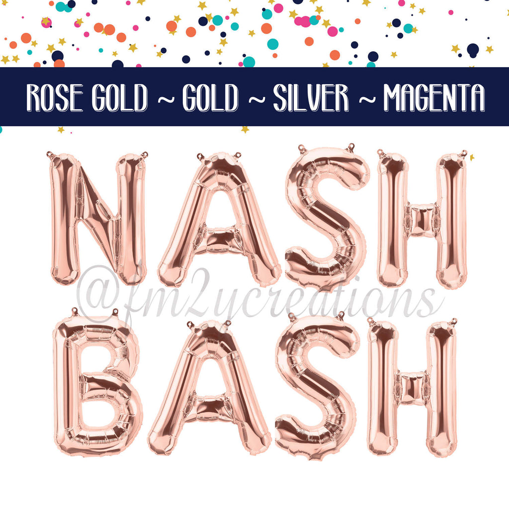 LETTER BALLOON PHRASE | Nash Bash - From Me 2 You Creations