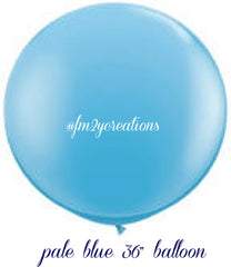"36"" Light Blue Round Balloon - From Me 2 You Creations"