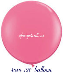 "36"" Rose Pink Round Latex Balloon - From Me 2 You Creations"
