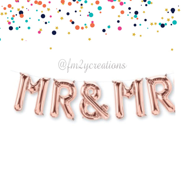 LETTER BALLOON PHRASE | MR AND MR