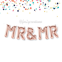 LETTER BALLOON PHRASE | MR AND MR - From Me 2 You Creations