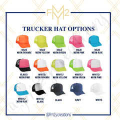 TRUCKER HATS | Nauti Bachelorette - From Me 2 You Creations