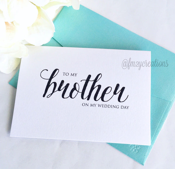 THANK YOU WEDDING CARD | BROTHER