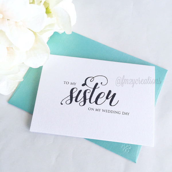 THANK YOU WEDDING CARD | SISTER