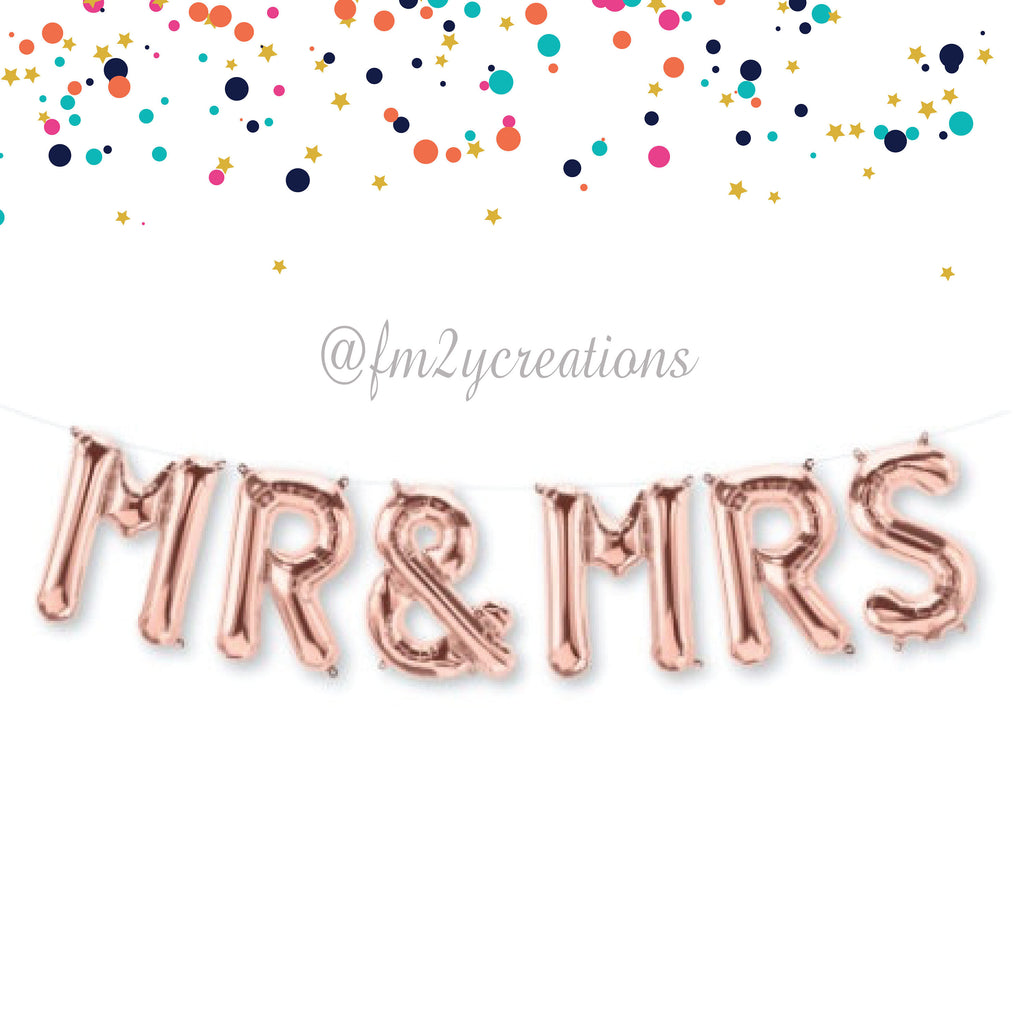 LETTER BALLOON PHRASE | MR AND MRS - From Me 2 You Creations