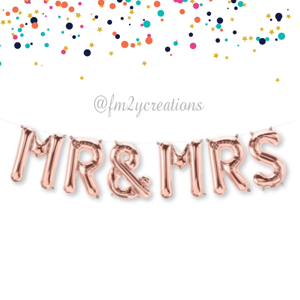 LETTER BALLOON PHRASE | MR AND MRS