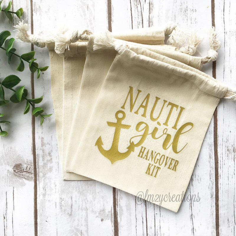 Nauti Girl Hangover Kit Bag | Nauti Bride Survival Kit | Nauti Bachelorette Hangover Kit | Bachelorette survival kit | Let's Get Ship Faced - From Me 2 You Creations