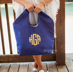 Monogram Personalized Beach Bag - From Me 2 You Creations