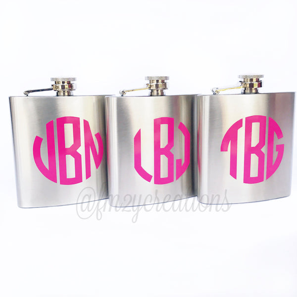 Monogrammed Flask | 8 oz | Original Font