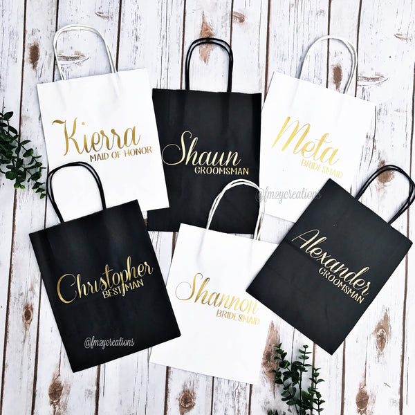 Personalized Gift Bag (Horizontal Name)