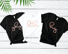 Big Little Reveal Cursive Shirt