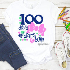 100 Days of Brains and Bows Shirt