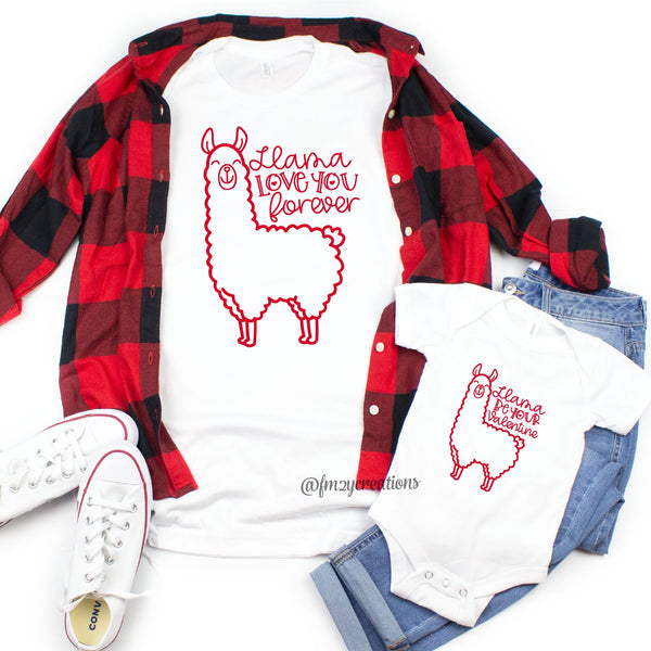 Llama You Forever Matching Valentine's Day Shirts