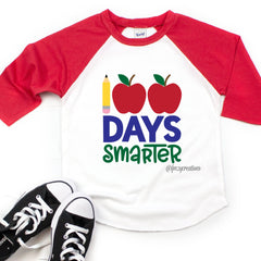 100 Days Smarter Apple Raglan