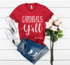 Cardinals Y'all Shirt
