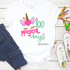 100 Magical Days Unicorn Shirt