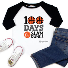 100 Days of Slam Dunks Raglan
