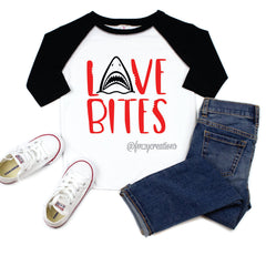 Love Bites Shark Raglan