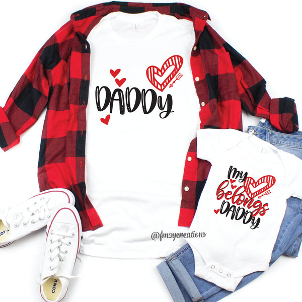 Daddy and Me Valentine Shirts