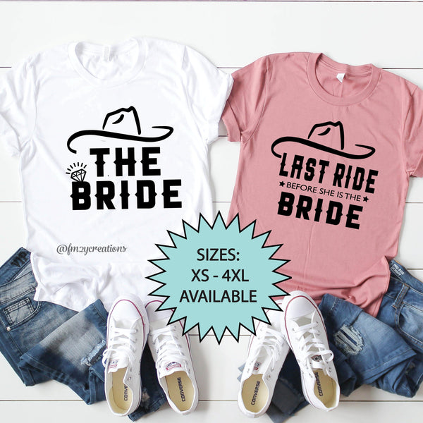 Last Ride For The Bride/The Bride Shirt