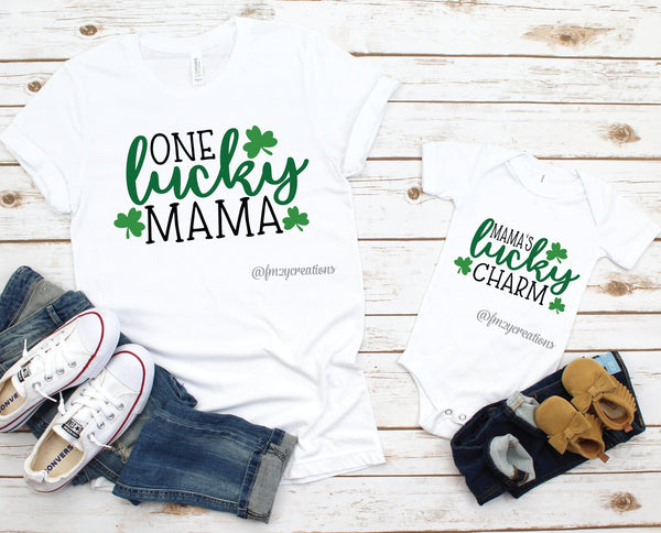 Mommy and Me Matching St Patrick's Day Shirts